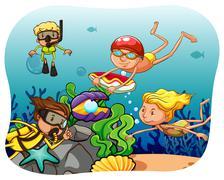 Scuba diving Stock Illustration
