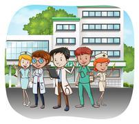 Hospital Stock Illustration