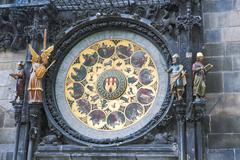 The famous clock in Prague. - stock photo