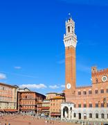 Stock Photo of The main square of Siena.