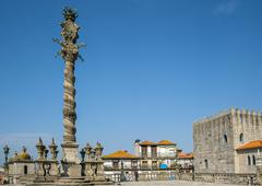 Portugal, Porto , carved shameful stone pillory for punishment - stock photo