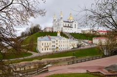 Holy Dormition Cathedral on Uspenskaya mountain, Vitebsk - stock photo