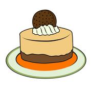 Stock Illustration of doodle cupcake