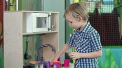 Toy Kitchen Set Stock Footage