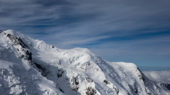 4k mont blanc alps france mountains snow peaks ski timelapse - stock footage