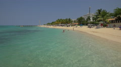Swimming on the seashore in Montego Bay, Jamaica Stock Footage