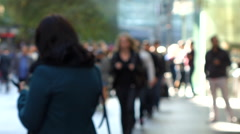 Blurry Busy Crowd Shot Stock Footage