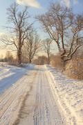 White winter wonderland landscape Stock Photos