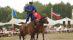 Especial Traditional Riding and Costume Stock Footage