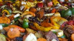 Cooking Vegetables Stew Stock Footage