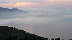 Sunrise Summer Mountain Landscape (Kefalonia, Greece). Stock Footage