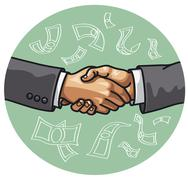 handshake - stock illustration