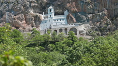 Monastery of Ostrog is a monastery of Serbian Orthodox Church in Montenegro Stock Footage