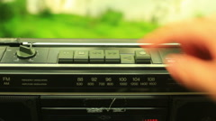 Tape cassette player boombox boom box Stock Footage