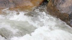 Rocks and Rapids in a Mountain Stream - stock footage