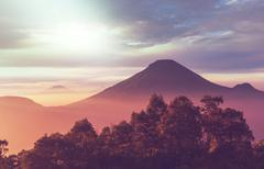 Java landscapes with volcano Stock Photos