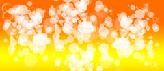 Gentle multicolored bokeh sparkly website header/banner - stock illustration