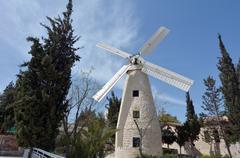 Montefiore Windmill in  Jerusalem  Israel Stock Photos