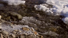 Spring brook in mountainous terrain. Stock Footage