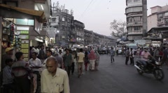 Indians on the streets of New Delhi and Mumbai, India Stock Footage