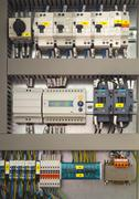 Electrical control cubicle Stock Photos