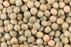 Whole dried green peas full frame - stock photo