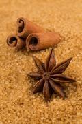 Stock Photo of tropical brown sugar, anise, cinnamon
