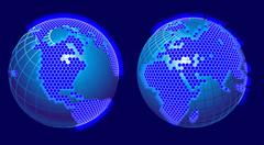 global cellular network theme - stock illustration