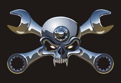 Metall Jolly Roger Stock Illustration