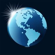 Stock Illustration of Cellular network theme