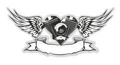 Vector Motorheart Stock Illustration