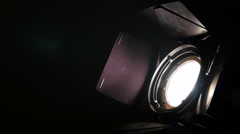 Spotlight switch off and on black 4k UHD 11640 Stock Footage