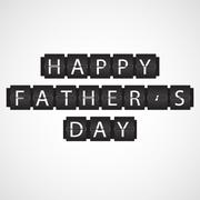 Happy Father's Day Flip Board Background Stock Illustration