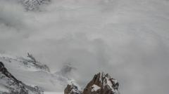 4k mont blanc alps france mountains snow peaks ski timelapse Stock Footage