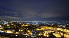 City at dawn. Panorama. Tivoli, Italy. Time Lapse. 1280x720 - stock footage