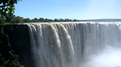 Classic view of victoria falls in zimbabwe Stock Footage