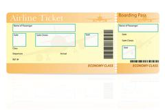 Airline ticket economy class illustration Stock Illustration