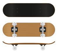 skateboard illustration - stock illustration