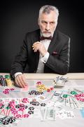 Concept for poker game and gambling Stock Photos