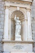 PRCANJ, MONTENEGRO - JUNE, 04: Catholic Church Birth of the Virgin Mary, on June Stock Photos
