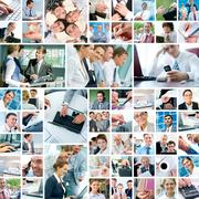 Business moments - stock photo