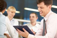 Successful chief manager - stock photo