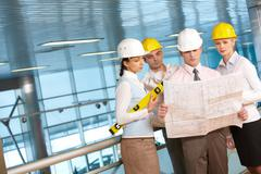 Architects at work Stock Photos