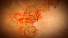 Golden Fall Flourish 1080  background Stock Footage