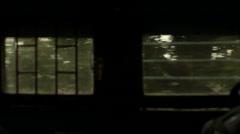 Moving train windows, India, medium shot Stock Footage