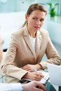 Serious businesswoman Stock Photos