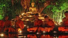 Visakha Bucha Day Stock Footage