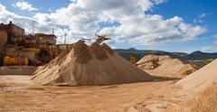 Gravel Aggregate Extraction Stock Photos