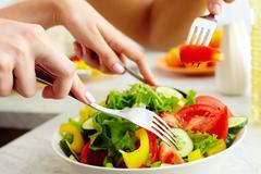 Prepared salad Stock Photos