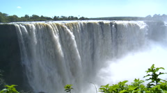 Victoria falls in zimbabwe Stock Footage